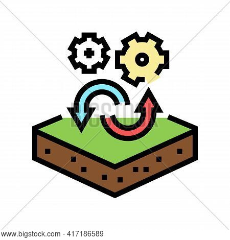 Transfer To Another Purpose Of Premises Color Icon Vector. Transfer To Another Purpose Of Premises S