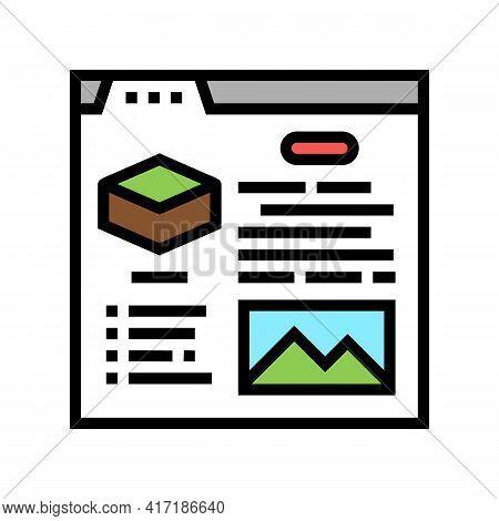 Characteristics Land Color Icon Vector. Characteristics Land Sign. Isolated Symbol Illustration