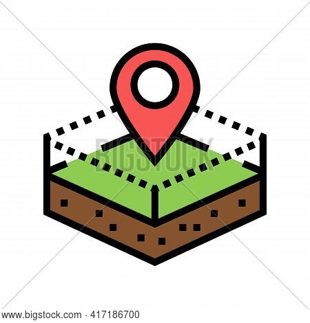 Territory Land Color Icon Vector. Territory Land Sign. Isolated Symbol Illustration