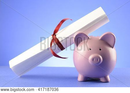 A Conceptual Image Of School Education Tuition Costs And Expenses For Advanced Learning.
