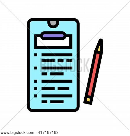 Online Education Application Color Icon Vector. Online Education Application Sign. Isolated Symbol I