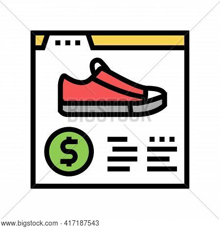 Shoes Shop Department Color Icon Vector. Shoes Shop Department Sign. Isolated Symbol Illustration