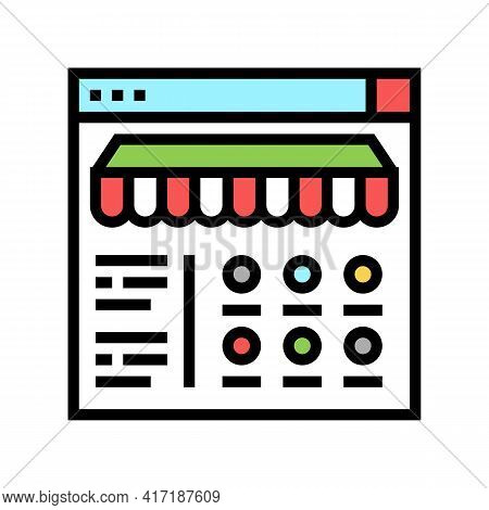 Food Ordering Department Color Icon Vector. Food Ordering Department Sign. Isolated Symbol Illustrat