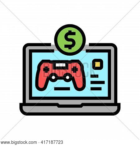 Game Shop Department Color Icon Vector. Game Shop Department Sign. Isolated Symbol Illustration