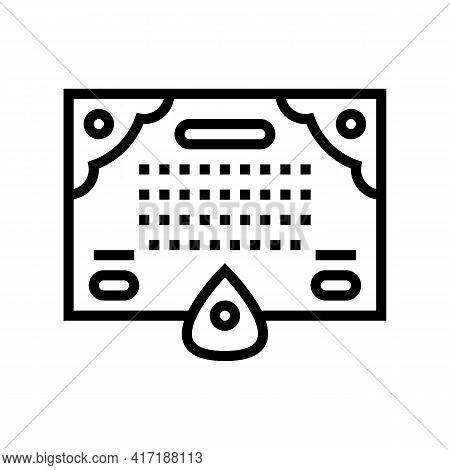 Spiritualism Astrological Line Icon Vector. Spiritualism Astrological Sign. Isolated Contour Symbol