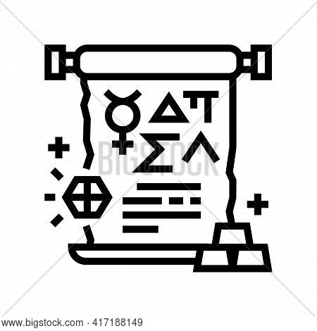 Alchemy Astrological Line Icon Vector. Alchemy Astrological Sign. Isolated Contour Symbol Black Illu