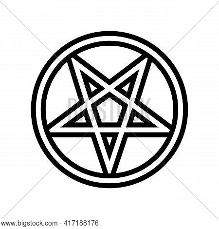 Mystical Ornament Line Icon Vector. Mystical Ornament Sign. Isolated Contour Symbol Black Illustrati