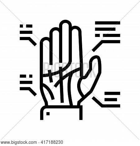 Palmistry Astrological Line Icon Vector. Palmistry Astrological Sign. Isolated Contour Symbol Black