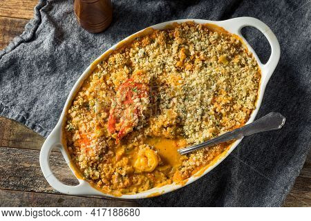Homemade Seafood Gratin Dish