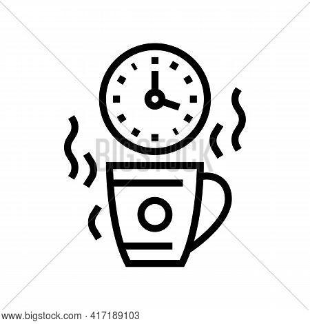 Coffee Break Forum Line Icon Vector. Coffee Break Forum Sign. Isolated Contour Symbol Black Illustra