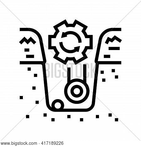 Supply Of Land Communications Line Icon Vector. Supply Of Land Communications Sign. Isolated Contour