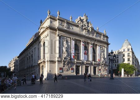 Lille, France - June 22 2020: The Opéra De Lille Is A Neo-classical Opera House, Built From 1907 To