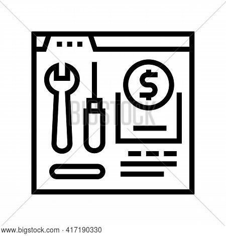 Repair Shop Department Line Icon Vector. Repair Shop Department Sign. Isolated Contour Symbol Black