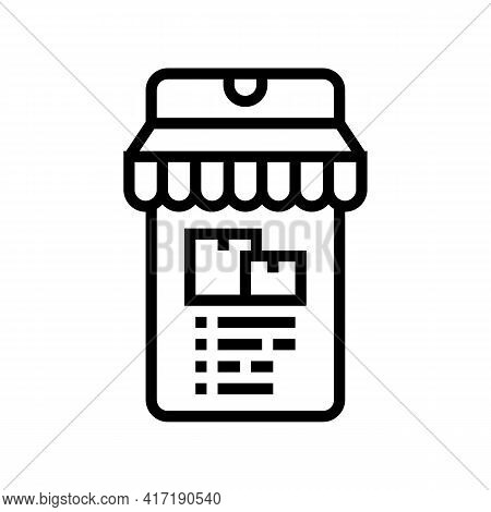Delivery Shop Department Line Icon Vector. Delivery Shop Department Sign. Isolated Contour Symbol Bl