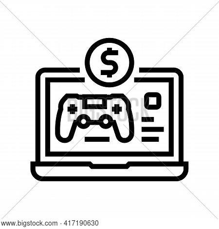Game Shop Department Line Icon Vector. Game Shop Department Sign. Isolated Contour Symbol Black Illu