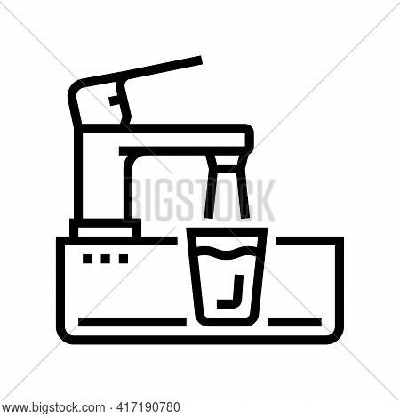 Faucet In Modern Design Water Line Icon Vector. Faucet In Modern Design Water Sign. Isolated Contour