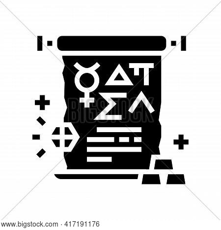 Alchemy Astrological Glyph Icon Vector. Alchemy Astrological Sign. Isolated Contour Symbol Black Ill