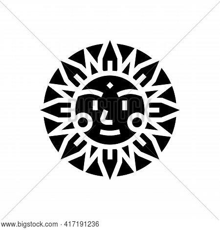 Sun Occult Symbol Glyph Icon Vector. Sun Occult Symbol Sign. Isolated Contour Symbol Black Illustrat