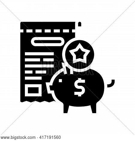 Collect Bonus Glyph Icon Vector. Collect Bonus Sign. Isolated Contour Symbol Black Illustration
