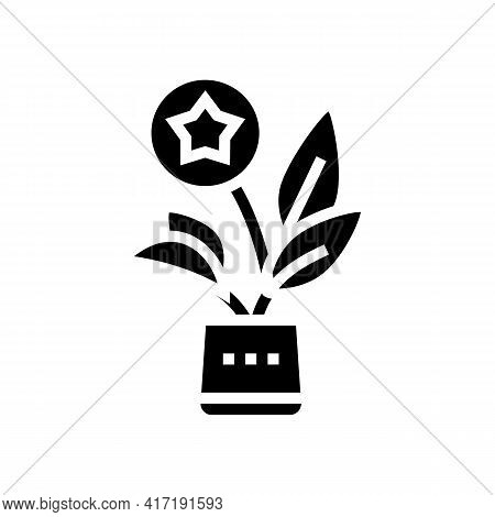 Growth Bonus Glyph Icon Vector. Growth Bonus Sign. Isolated Contour Symbol Black Illustration