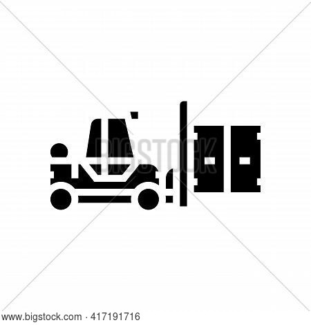 Loader Port Glyph Icon Vector. Loader Port Sign. Isolated Contour Symbol Black Illustration