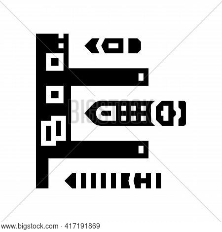 Lighthouse Port Glyph Icon Vector. Lighthouse Port Sign. Isolated Contour Symbol Black Illustration