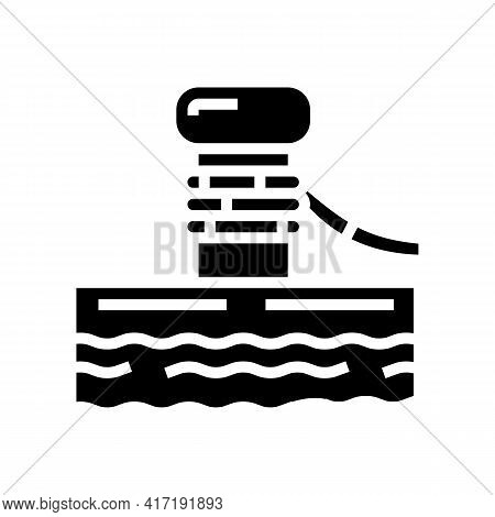 Container Loader Port Equipment Glyph Icon Vector. Container Loader Port Equipment Sign. Isolated Co