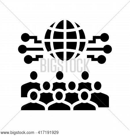 International Forum Glyph Icon Vector. International Forum Sign. Isolated Contour Symbol Black Illus