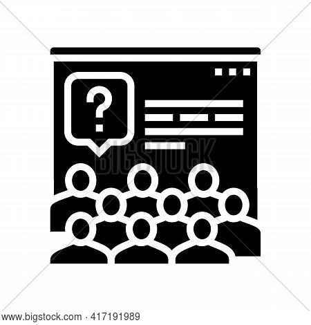 Tasks For Discussion On Forum Glyph Icon Vector. Tasks For Discussion On Forum Sign. Isolated Contou