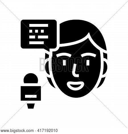 Speaker Forum Glyph Icon Vector. Speaker Forum Sign. Isolated Contour Symbol Black Illustration