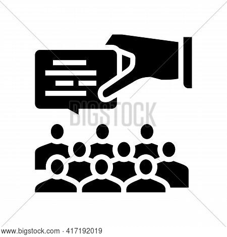 Speech On Forum Glyph Icon Vector. Speech On Forum Sign. Isolated Contour Symbol Black Illustration