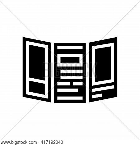 Handout Flyer Of Forum Glyph Icon Vector. Handout Flyer Of Forum Sign. Isolated Contour Symbol Black