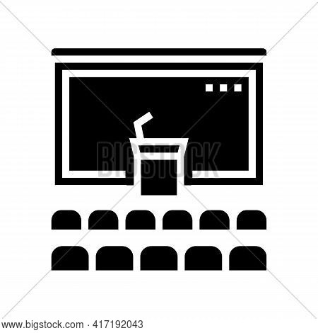 Conference Hall Glyph Icon Vector. Conference Hall Sign. Isolated Contour Symbol Black Illustration
