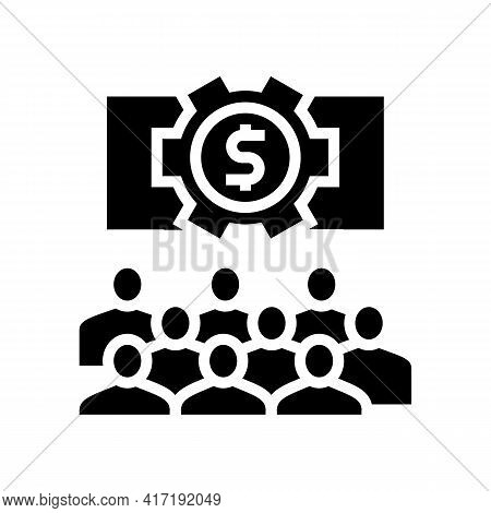 Communication Process On Forum Glyph Icon Vector. Communication Process On Forum Sign. Isolated Cont