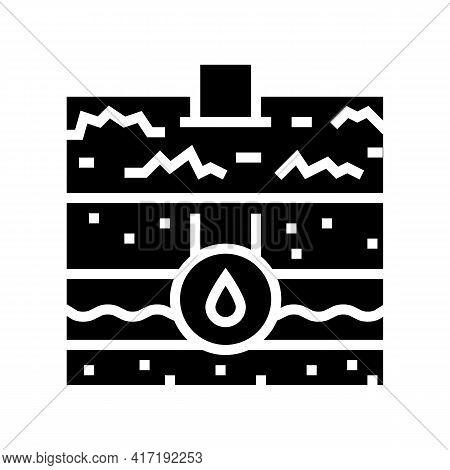 Water Communication Land Glyph Icon Vector. Water Communication Land Sign. Isolated Contour Symbol B