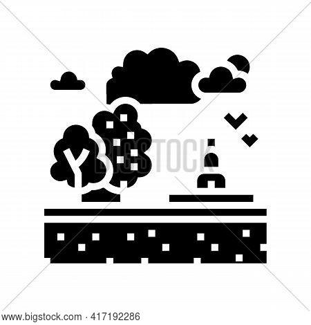 Recreational Land Glyph Icon Vector. Recreational Land Sign. Isolated Contour Symbol Black Illustrat