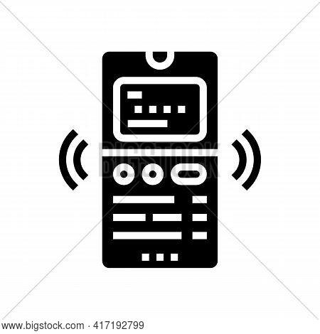 Phone Binding Card Glyph Icon Vector. Phone Binding Card Sign. Isolated Contour Symbol Black Illustr