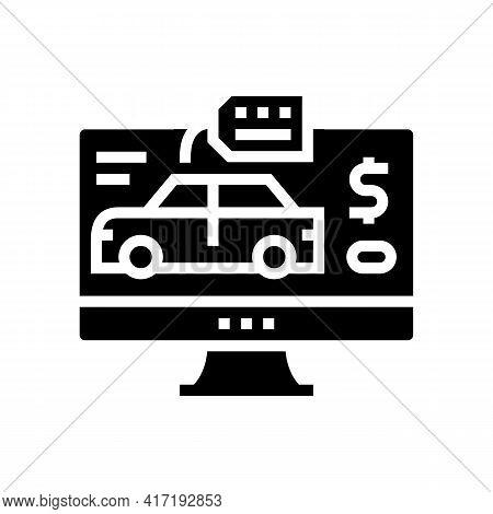 Car Shop Department Glyph Icon Vector. Car Shop Department Sign. Isolated Contour Symbol Black Illus