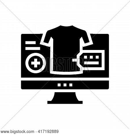 Clothes Shop Department Glyph Icon Vector. Clothes Shop Department Sign. Isolated Contour Symbol Bla