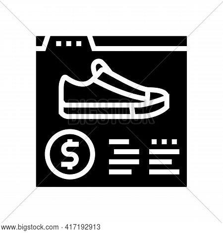 Shoes Shop Department Glyph Icon Vector. Shoes Shop Department Sign. Isolated Contour Symbol Black I