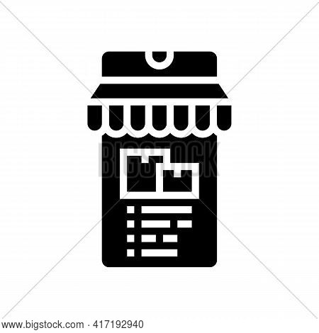 Delivery Shop Department Glyph Icon Vector. Delivery Shop Department Sign. Isolated Contour Symbol B