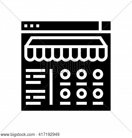 Food Ordering Department Glyph Icon Vector. Food Ordering Department Sign. Isolated Contour Symbol B