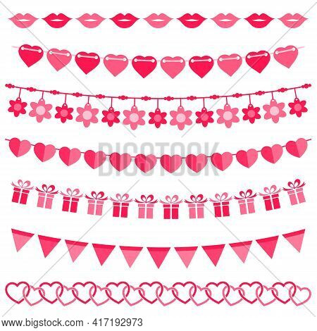 Pink Bunting And Garland Set For Girls