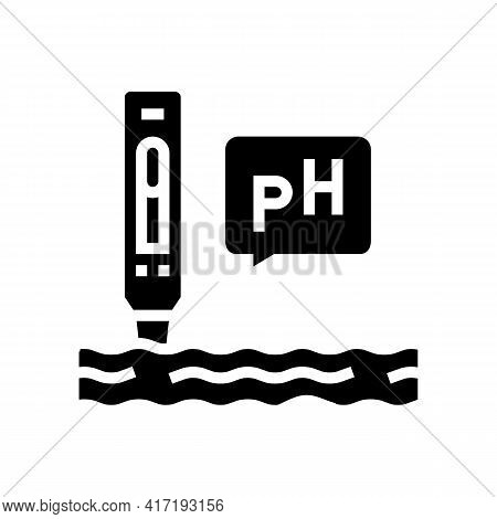 Ph Water Glyph Icon Vector. Ph Water Sign. Isolated Contour Symbol Black Illustration