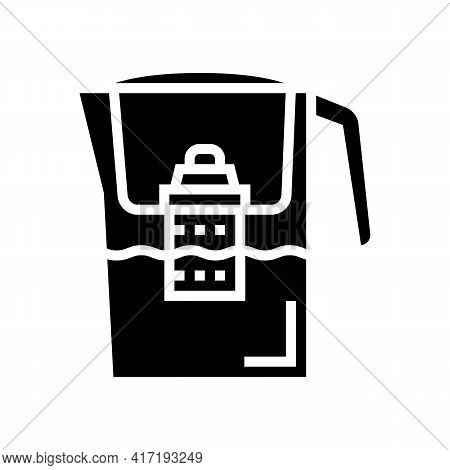 Domestic Filter Water Glyph Icon Vector. Domestic Filter Water Sign. Isolated Contour Symbol Black I