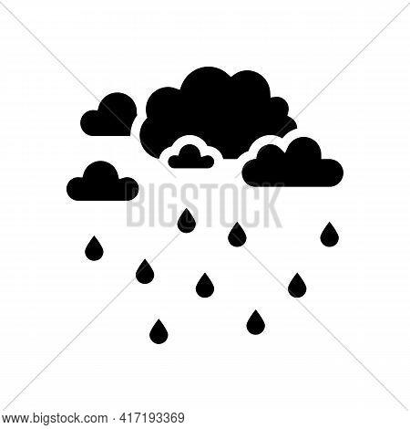 Precipitation Water Glyph Icon Vector. Precipitation Water Sign. Isolated Contour Symbol Black Illus