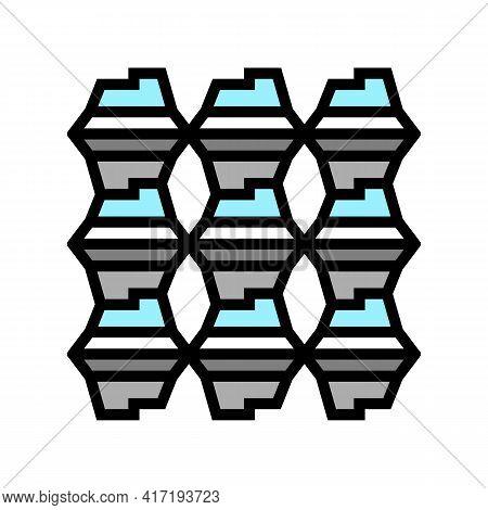 Process Aluminium Production Color Icon Vector. Process Aluminium Production Sign. Isolated Symbol I
