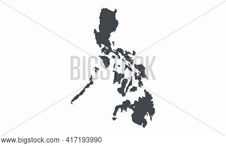 Philippines Map Vector Design On White Background