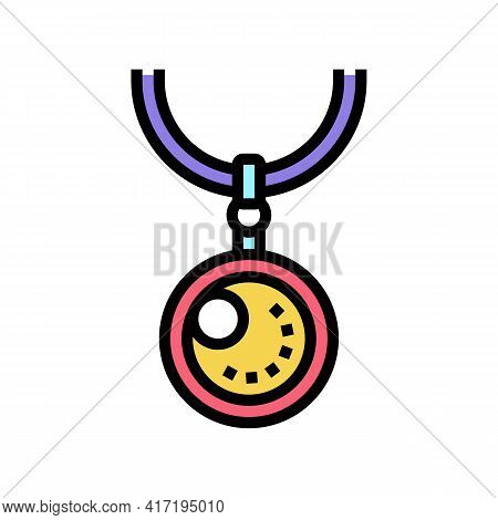 Pendants Jewellery Color Icon Vector. Pendants Jewellery Sign. Isolated Symbol Illustration