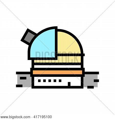 Observatory Planetarium Color Icon Vector. Observatory Planetarium Sign. Isolated Symbol Illustratio